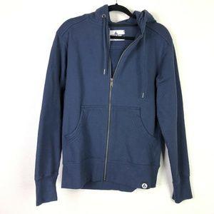 American Giant Navy Blue Full Zip Hoodie Jacket M